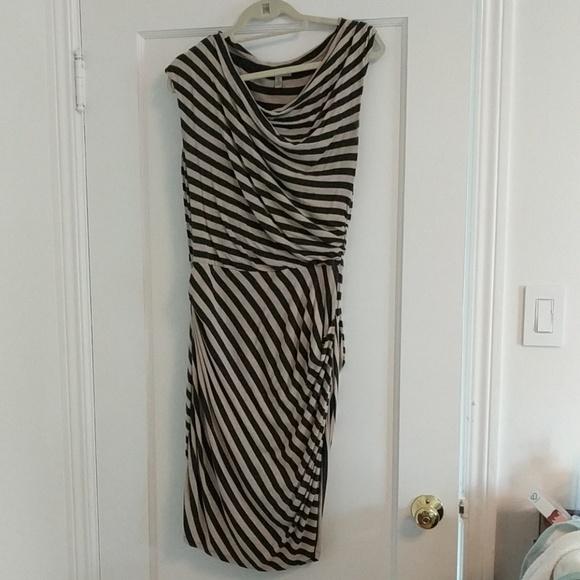 Bordeaux Dresses & Skirts - Anthropologie striped jersey dress